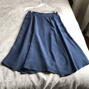 J Crew slip midi skirt, 100% silk, size 00